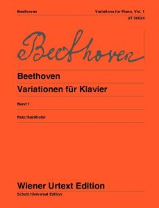 BEETHOVEN, LUDWIG VAN - Wariacje fortepianowe tom 1 - Variations - for Piano - nuty na fortepian - Wiener Urtext - UT50024