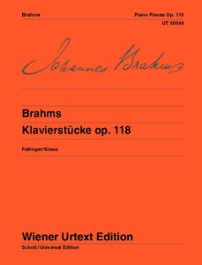 BRAHMS, JOHANNES - Utwory fortepianowe op.118 - Piano Pieces - for Piano - nuty na fortepian - Wiener Urtext - UT50044