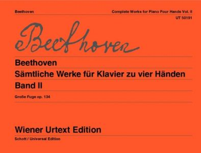 BEETHOVEN, LUDWIG VAN - Utwory fortepianowe na 4 ręce tom 2 - Works for Piano 4 Hands for piano four  hands - nuty na fortepian na 4 ręce - Wiener Urtext - UT50191