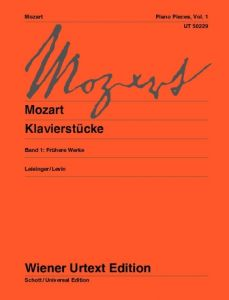MOZART, WOLFGANG AMADEUS - Piano Pieces - Vol.1 - for Piano - nuty na fortepian - Wiener Urtext - UT50229