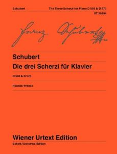 SCHUBERT, FRANZ - Die drei Scherzi - The three Scherzi for piano - nuty na fortepian - Wiener Urtext - UT50294