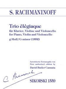 RACHMANINOW, SERGIUSZ - Trio elegiaque g-moll - for Piano, Violin and Violoncello - Parts - głosy - Sikorski Musikverlage - SIK1559