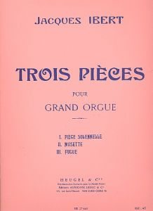 IBERT, JACQUES - 3 pieces - for Organ - nuty na organy - Alphonse Leduc - HE27663