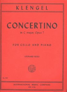 KLENGEL, JULIUS - Concertino C-dur op.7 - for Cello and Piano - nuty na wiolonczelę i fortepian - ed. Leonard Rose - International Music Company - IMC1409