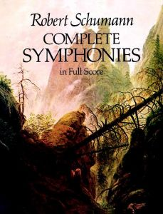 SCHUMANN, ROBERT - Complete Symphonies in Full Score for orchestra - Symfonie / komplet - partytura - reprint wczesnego wydania Breitkopf & Härtel (c. 1926) - Dover Publications Inc. - 9780486240138