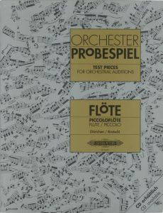 Studia orkiestrowe na flet i flet piccolo / Test Pieces for Orchestral Auditions for Flute and Piccolo / Orchester Probespiel - ed. Christoph Dürichen / Siegfried Kratsch - C. F. Peters - EP8659