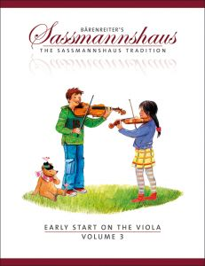 SASSMANNSHAUS, EGON - Early Start on the Viola - Vol. 3 - Elementary duets. Dances and other pieces in various keys - nuty na altówkę - Bärenreiter Verlag - BA9688