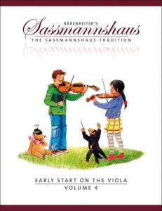 SASSMANNSHAUS, EGON - Early Start on the Viola - Vol. 4 - A viola method for children - nuty na altówkę - Bärenreiter Verlag - BA9689