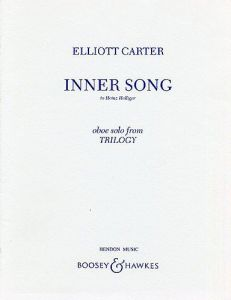 CARTER, ELLIOTT - Inner Song from Trilogy - for Oboe - nuty na obój solo - Boosey & Hawkes - M-051-66060-5
