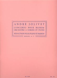 JOLIVET, ANDRE - Concerto - for Basson and Piano - nuty na fagot i fortepian - Alphonse Leduc - HE31669