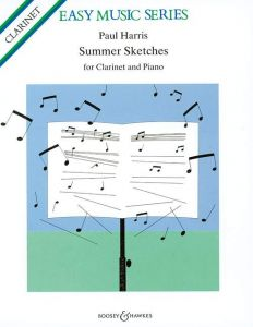 HARRIS, PAUL - Summer Sketches - for Clarinet and Piano - nuty na klarnet i fortepian - Boosey & Hawkes - M-060-08169-9