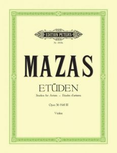 MAZAS, JACQUES FEREOL - Etiudy op. 36 - tom 3 - nr 58-75 - nuty na skrzypce - ed. Walther Davisson - C. F. Peters Ltd & Co. KG - EP1819C