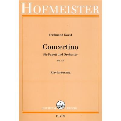 DAVID, FERDINAND - Concertino op.12 - for Bassoon and Orchestra - for Basson and Piano - nuty na fagot i fortepian - Friedrich Hofmeister Musikverlag - FH2170