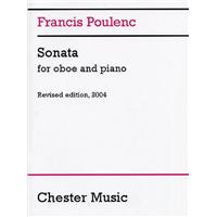 POULENC, FRANCIS - Sonata for Oboe and Piano - nuty na obój i fortepian - Chester Music - CH62711