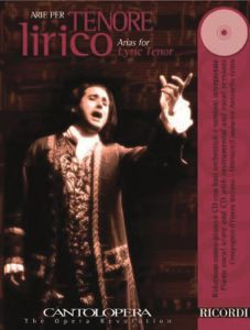 CANTOLOPERA: Arias Vol. 1  - for Lyric Tenor (+CD) - Ricordi Milano - NR 139852