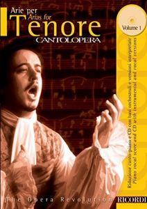 CANTOLOPERA: Arias Vol.1 - for Tenor (+CD) - Ricordi Milano - NR 138731