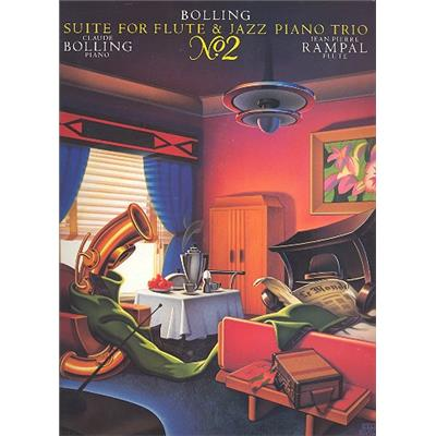 BOLLING, CLAUDE - Suite No.2 - for Flute and Jazz Piano trio - Parts - Suita nr 2 - nuty na flet kontrabas, fortepian i perkusję - głosy - Hal Leonard - HL00356321