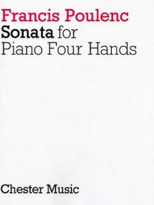 POULENC, FRANCIS - Sonata - for Piano 4 Hands - Score - nuty na dwa fortepiany - na 4 ręce - Chester Music - CH02907